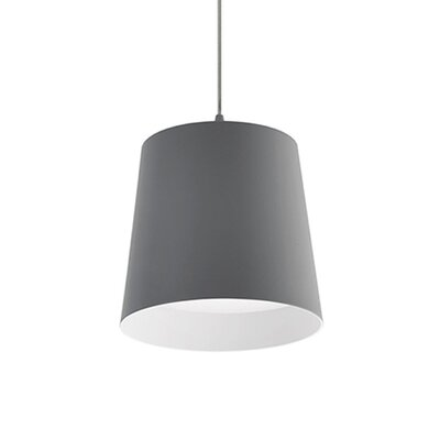 Brookside 1-Light Mini Pendant Finish: Gray
