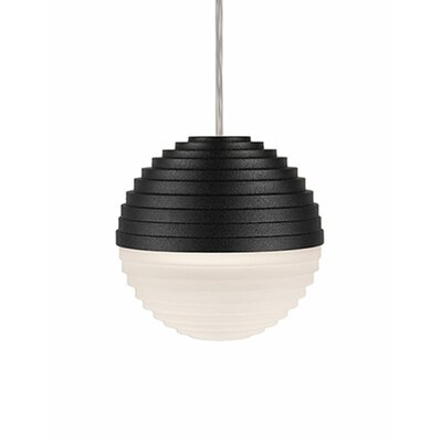 Divine 1-Light Globe Pendant Shade Color: Black/Cream