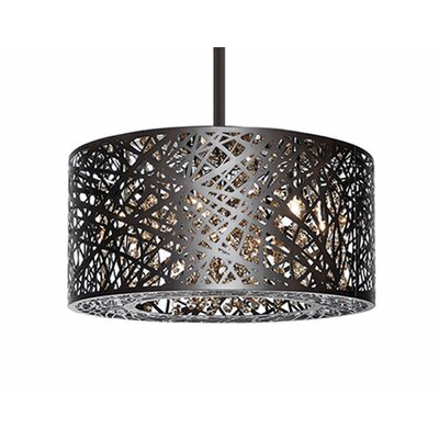 Gregor 6-Light Drum Pendant Finish: Bronze
