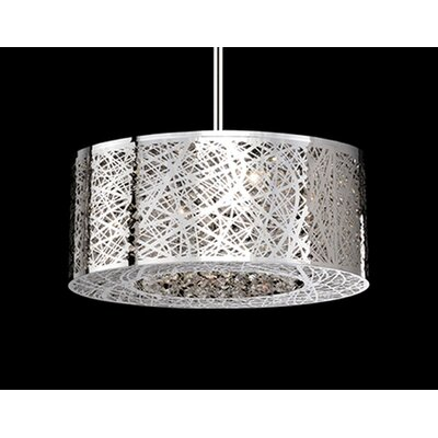 Gregor 8-Light Drum Pendant Finish: Chrome