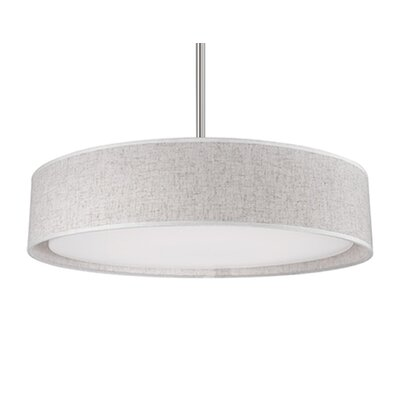 Heather 1-Light Drum Pendant Shade Color: Gray, Size: 4.2 H x 20 W x 20 D