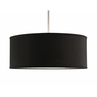 Nevaeh 3-Light Drum Pendant Size: 19.75 H x 19.75 W x 19.75 D, Shade Color: Black