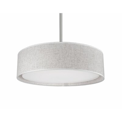 Heather 1-Light Drum Pendant Shade Color: Gray, Size: 4.2 H x 16 W x 16 D