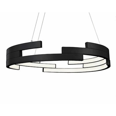 City Chic 1-Light Geometric Pendant Finish: Black, Size: 5 H x 31.5 W x 31.5 D