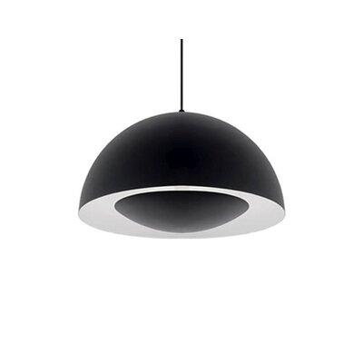 Karmis 1-Light Bowl Pendant Finish: Black, Size: 8 H x 16 W x 16 D