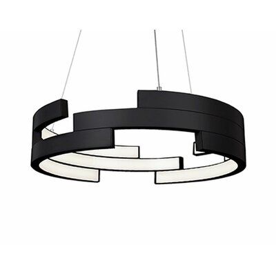 City Chic 1-Light Geometric Pendant Finish: Black, Size: 5 H x 21.6 W x 21.6 D