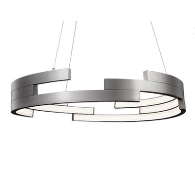 City Chic 1-Light Geometric Pendant Finish: Brushed Nickel, Size: 5 H x 31.5 W x 31.5 D