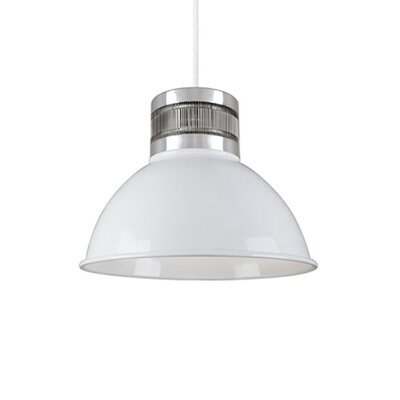 Babell 1-Light Bowl Pendant Finish: White, Size: 8.8 H x 12 W x 12 D