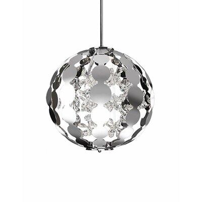 Flora 1-Light Globe Pendant Size: 19 H x 19 W x 19 D