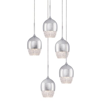 Cabaret 5-Light Cascade Pendant Finish: Chrome