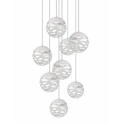 Gregor 8-Light Cascade Pendant Shade Color: Chrome
