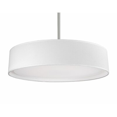 Heather 1-Light Drum Pendant Shade Color: White, Size: 4.2 H x 20 W x 20 D