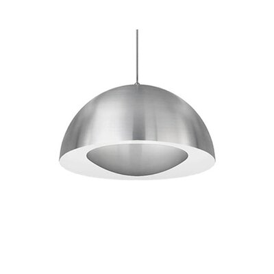 Karmis 1-Light Bowl Pendant Finish: Brushed Nickel, Size: 8 H x 16 W x 16 D