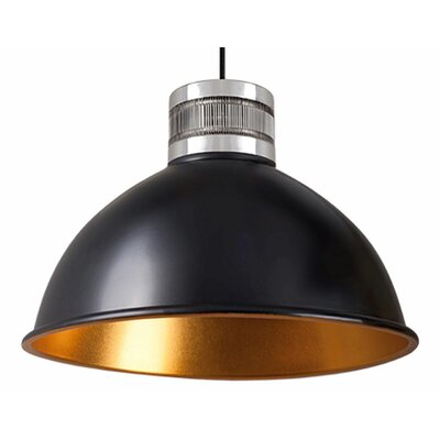 Babell 1-Light Bowl Pendant Finish: Black, Size: 13.5 H x 18.5 W x 18.5 D