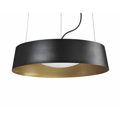 Hailey 1-Light Drum Pendant Finish: Black