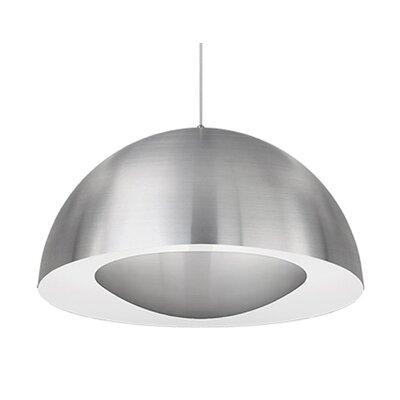 Karmis 1-Light Bowl Pendant Finish: Brushed Nickel, Size: 13 H x 26 W x 26 D