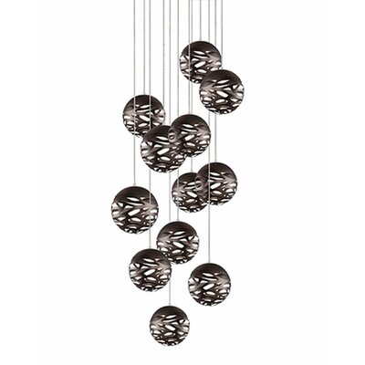 Gregor 12-Light Cascade Pendant Shade Color: Bronze