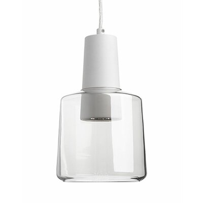 Kara 1-Light Mini Pendant Finish: White