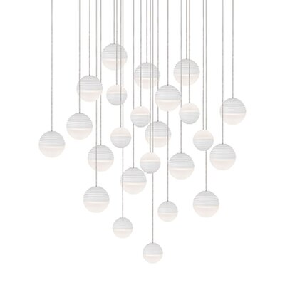 Divine 24-Light Cascade Pendant Shade Color: White/Cream