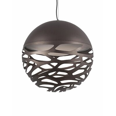Gregor 1-Light Globe Pendant Shade Color: Bronze, Size: 19 H x 19 W x 19 D