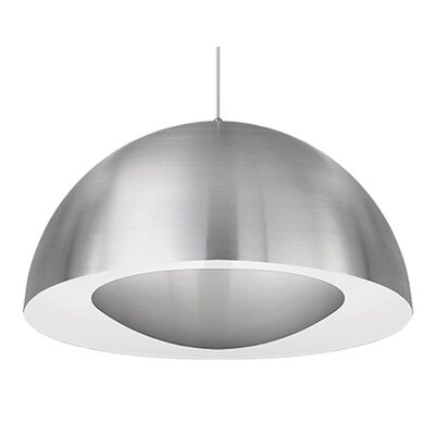 Karmis 1-Light Bowl Pendant Finish: Brushed Nickel, Size: 16.75 H x 35.5 W x 35.5 D