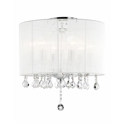 Jemly 6-Light Semi Flush Mount Shade Color: White