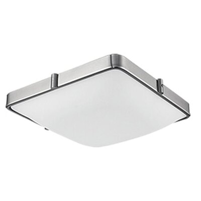 Stephanie 1-Light Flush Mount Size: 3.17 H x 9.5 W x 9.5 D
