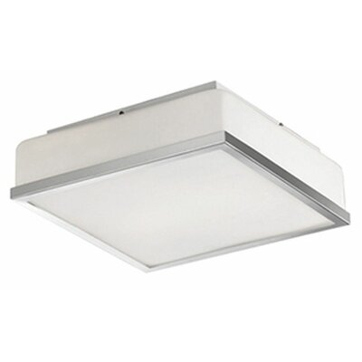 Stephanie 1-Light Flush Mount Base Finish: Chrome