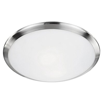 Stephanie 1-Light Flush Mount Base Finish: Brushed Nickel