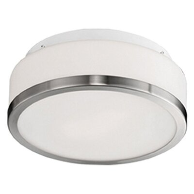Stephanie 3-Light Flush Mount Base Finish: Brushed Nickel