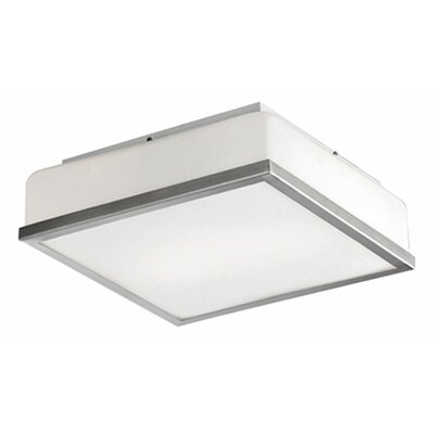 Stephanie 2-Light Flush Mount Base Finish: Brushed Nickel