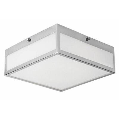 Heather 1-Light Flush Mount Size: 3.38'' H x 9.8'' W x 9.8'' D