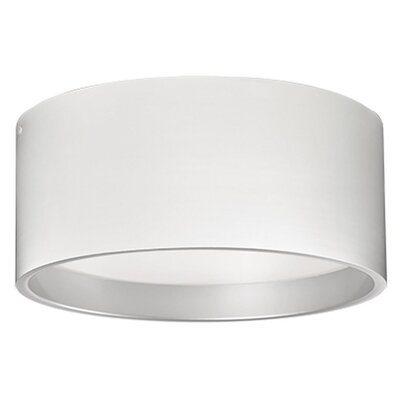 Heather 1-Light Flush Mount Finish: White, Size: 9.8 H x 17.75 W x 17.75 D