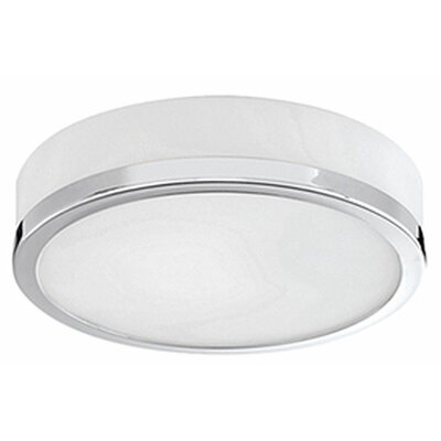 Tricia 1-Light Flush Mount Base Finish: Chrome