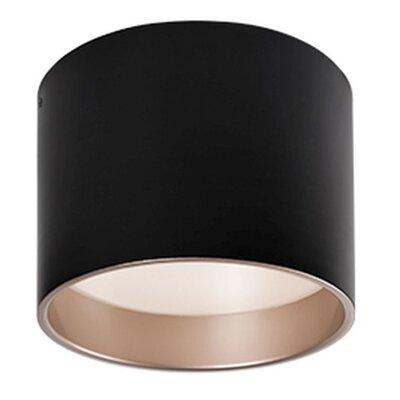 Heather 1-Light Flush Mount Finish: Black, Size: 7.25 H x 9.8 W x 9.8 D