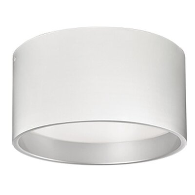 Heather 1-Light Flush Mount Finish: White, Size: 7.25 H x 14 W x 14 D