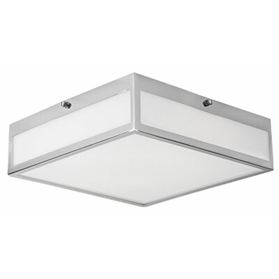 Heather 1-Light Flush Mount Size: 3.38 H x 15.75 W x 15.75 D