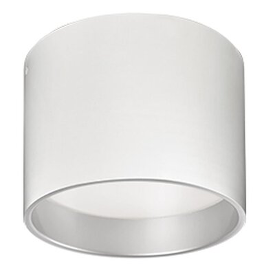 Heather 1-Light Flush Mount Size: 7.25 H x 9.8 W x 9.8 D, Finish: White