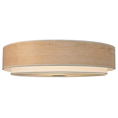 Stephanie 3-Light Flush Mount Shade Color: Pine