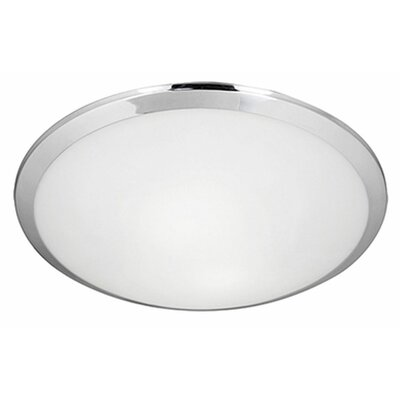 Stephanie 2-Light Flush Mount Base Finish: Chrome