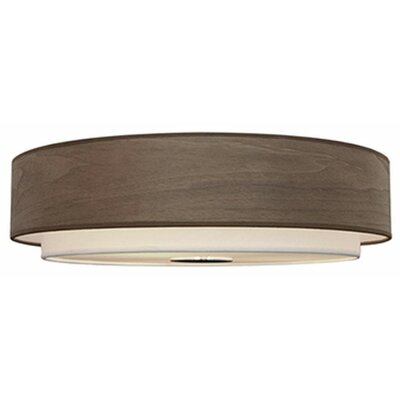 Stephanie 3-Light Flush Mount Shade Color: Walnut
