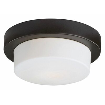 Stephanie 2-Light Flush Mount Base Finish: Chrome, Size: 3.75 H x 11 W x 11 D