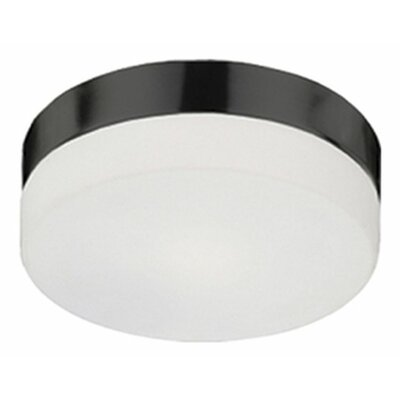 Stephanie 2-Light Flush Mount Base Finish: Brushed Nickel, Size: 3.13 H x 9 W x 9 D