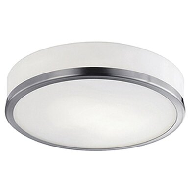 Tricia 2-Light Flush Mount Base Finish: Brushed Nickel