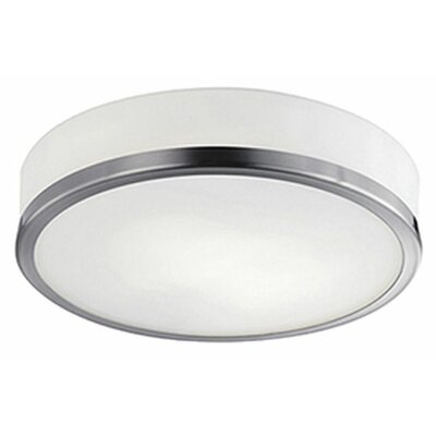 Tricia 1-Light Flush Mount Base Finish: Brushed Nickel
