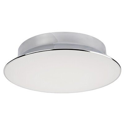 Heather 1-Light Flush Mount Size: 4.5'' H x 17.75'' W x 17.75'' D