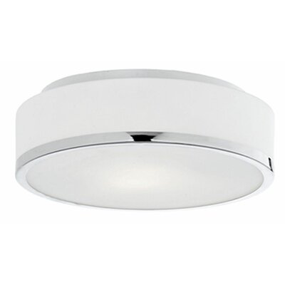 Tricia 2-Light Flush Mount Base Finish: Chrome