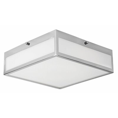 Heather 1-Light Flush Mount Size: 3.38 H x 11.8 W x 11.8 D