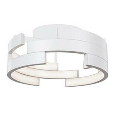 Heather 1-Light Flush Mount Finish: White, Size: 6.5 H x 15.75 W x 15.75 D