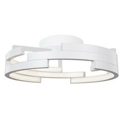 Heather 1-Light Flush Mount Finish: White, Size: 6.25 H x 21.6 W x 21.6 D
